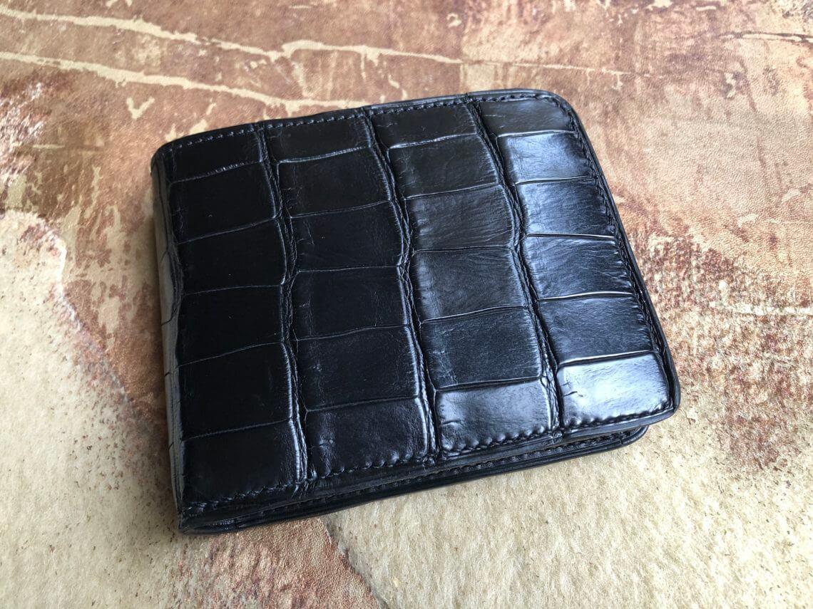 クロコダイルで二つ折り財布をオーダーメイド