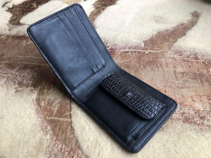 クロコダイル二つ折り財布オーダー