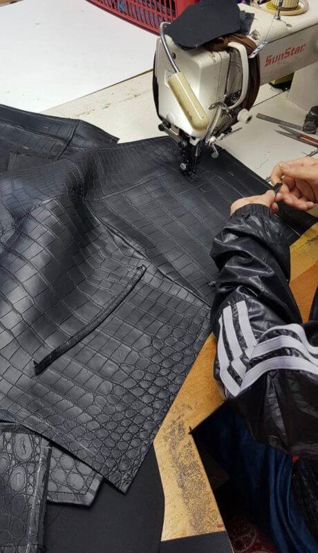 クロコダイルワニ革ジャケットコートオーダー