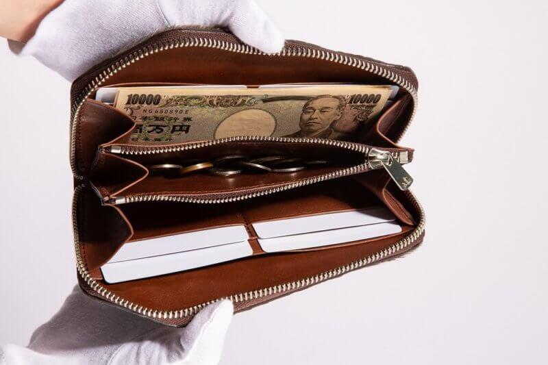 クロコダイル×アザラシ×天然石メンズレザーラウンドファスナー長財布