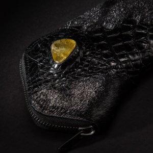 クロコダイルとアザラシ、天然石の長財布