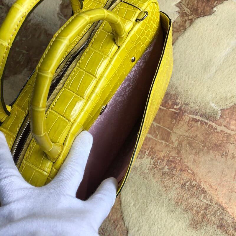 シャイニングクロコダイルでバッグをオーダーメイド