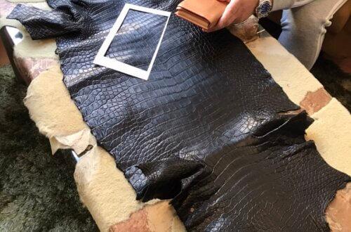 クロコダイルで150万をピッタっと収まる財布のオーダーメイド