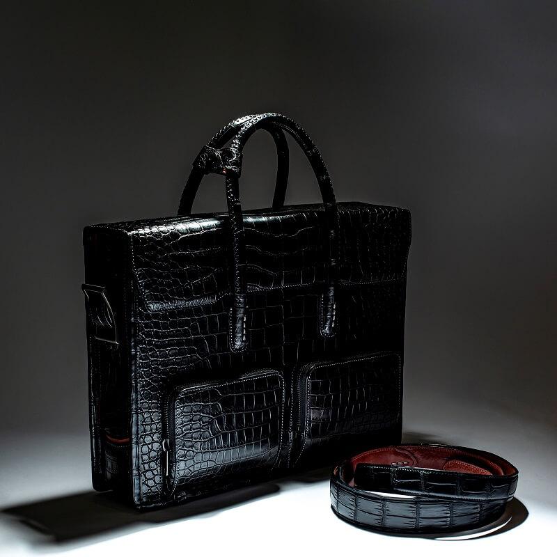 ポロサススモールクロコダイルでビジネスバッグをオーダーメイド