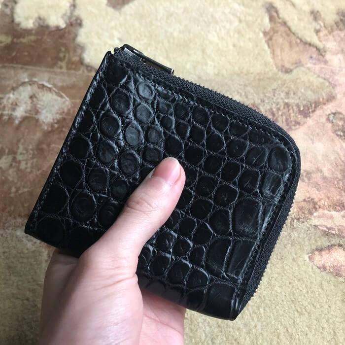 クロコダイルポロサスL字財布