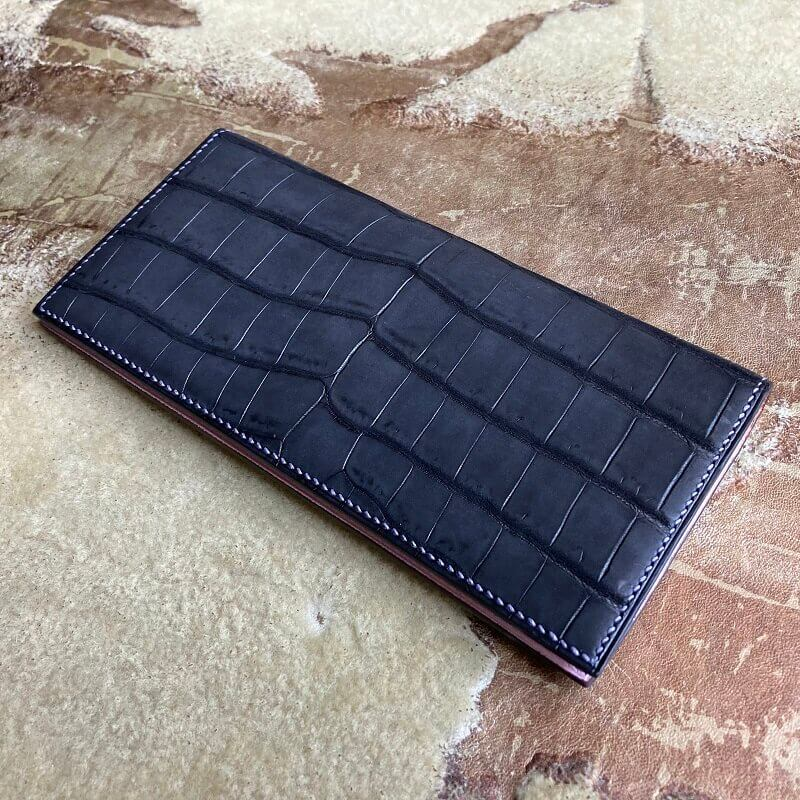 ヌバッククロコダイル長財布